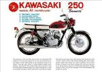 KAWASAKI - A1 SAMURAI - OIL TANK & SIDE PANEL - TRANSFER - 1967 TO 1969 - D57040